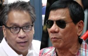 Duterte, Roxas supporters gear up