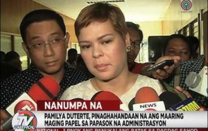Inday Sara at Paolo Duterte, nanumpa na sa Davao City