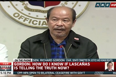 Gordon rejects probe into Lascanas' new claims on DDS