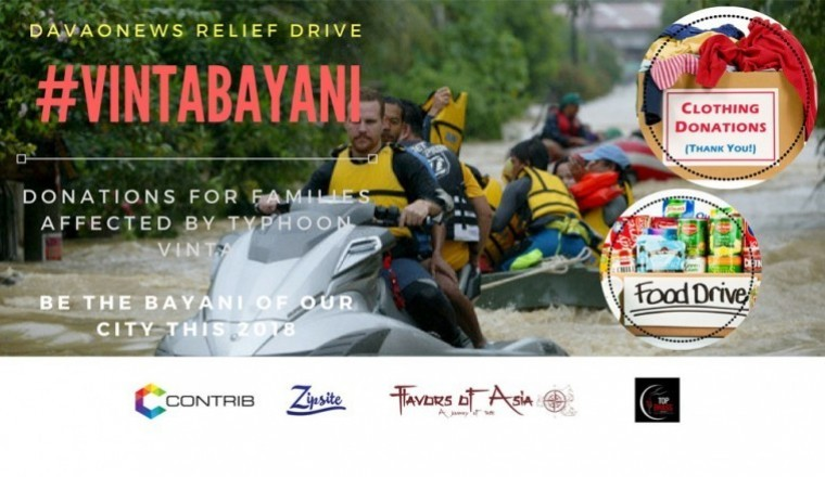 VintaBayani : Donations for families affected by Typhoon Vinta