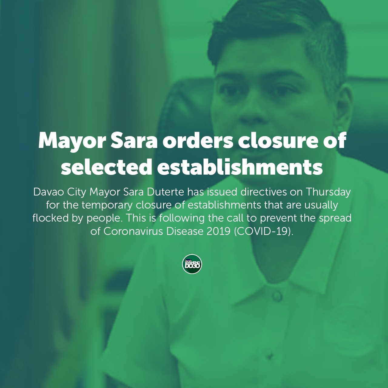 Mayor Sara Orders Closure of Selected Establishments