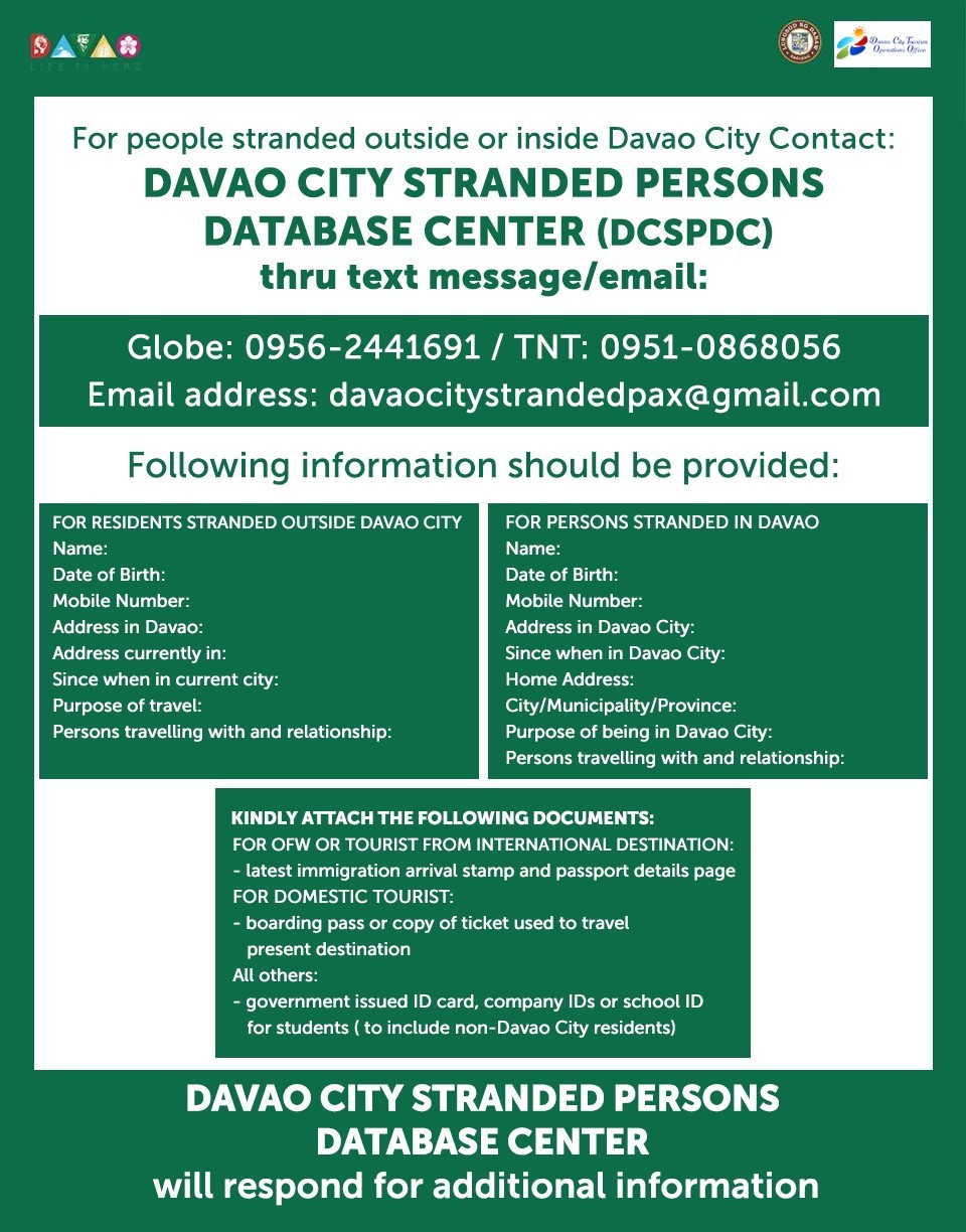 DAVAO CITY STRANDED PERSONS DATABASE CENTER (DCSPDC)